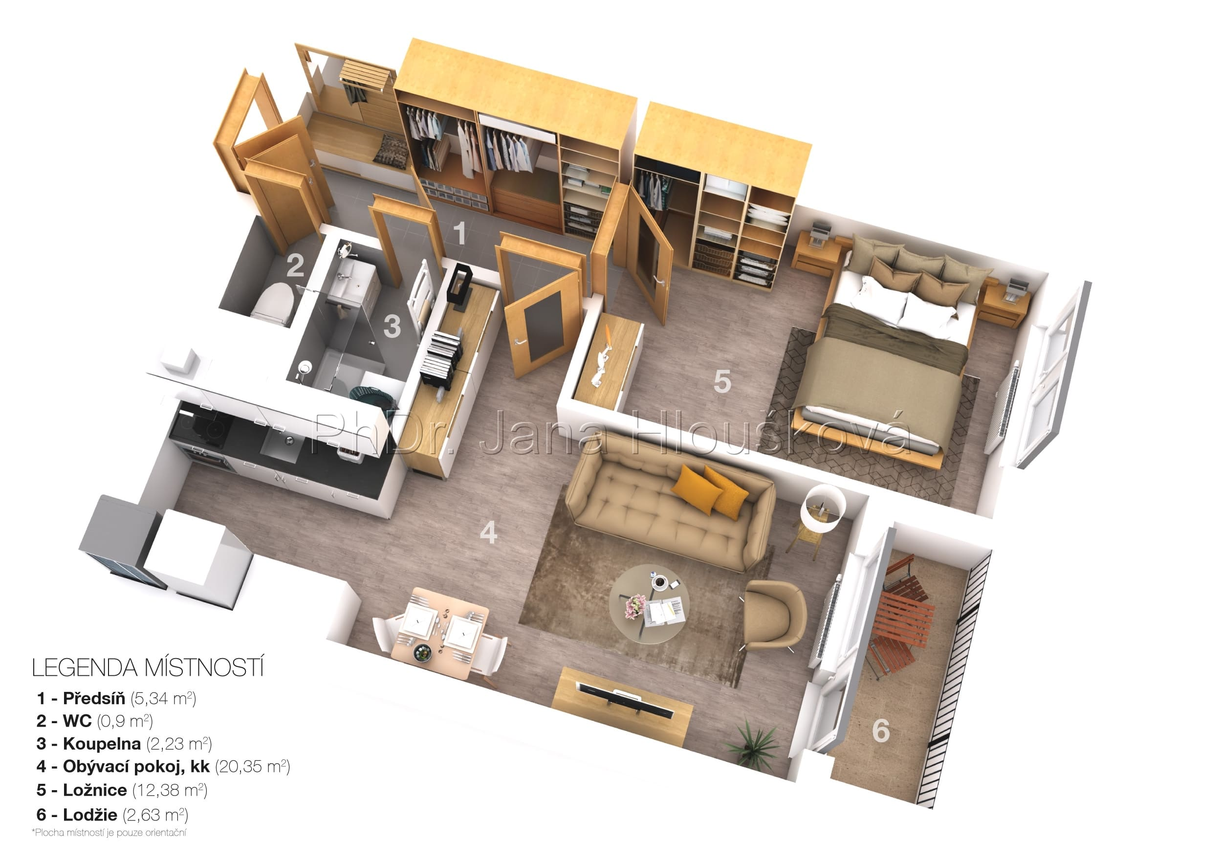 3D půdorys nemovitostí - PhDr. Jana Hloušková